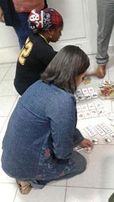 Testagem manual de escolinha comunitária